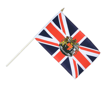 Great Britain with crest - Hand Waving Flag 12x18""