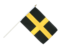 St. David - Hand Waving Flag 12x18""