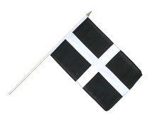 St. Piran Cornwall Hand Waving Flag - 12x18""