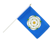 Yorkshire new - Hand Waving Flag 12x18""
