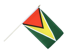 Guyana - Hand Waving Flag 12x18""
