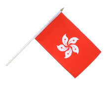 Hong Kong - Hand Waving Flag 12x18""