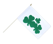 Shamrock - Hand Waving Flag 12x18""