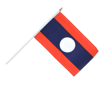 Laos - Hand Waving Flag 12x18""