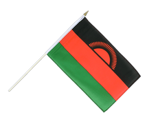 Malawi new - Hand Waving Flag 12x18""