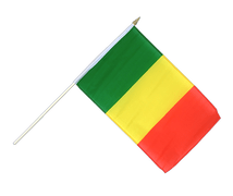 Mali - Hand Waving Flag 12x18""