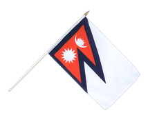 Nepal Hand Waving Flag - 12x18""