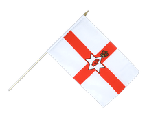 Northern Ireland Hand Waving Flag - 12x18""