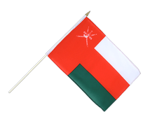 Oman - Hand Waving Flag 12x18""