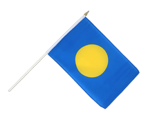 Hand Waving Flag Palau - 12x18""