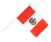 Peru - Hand Waving Flag 12x18""