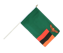 Zambia - Hand Waving Flag 12x18""