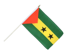 Sao Tome and Principe - Hand Waving Flag 12x18""