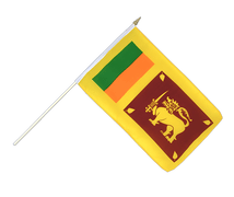 Sri Lanka - Hand Waving Flag 12x18""