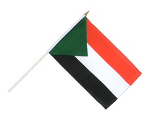 Sudan - Hand Waving Flag 12x18""