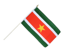 Suriname - Hand Waving Flag 12x18""