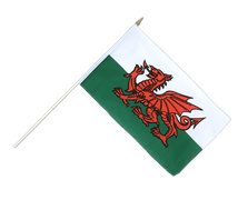 Wales - Hand Waving Flag 12x18""