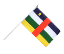 Central African Republic - Hand Waving Flag 12x18""
