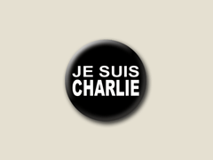 Je suis Charlie - Kleiner Button 25 mm