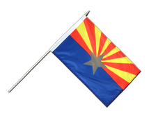 Arizona - Hand Waving Flag 12x18""
