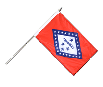 Arkansas - Hand Waving Flag 12x18""
