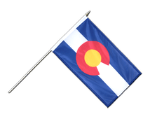 Colorado - Hand Waving Flag 12x18""