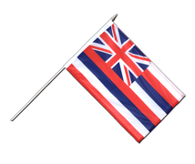 Hawaii - Hand Waving Flag 12x18""