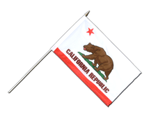 California - Hand Waving Flag 12x18""