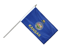 Kansas - Hand Waving Flag 12x18""