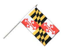 Maryland - Hand Waving Flag 12x18""