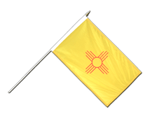 New Mexiko Hand Waving Flag - 12x18""