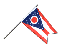 Ohio - Hand Waving Flag 12x18""