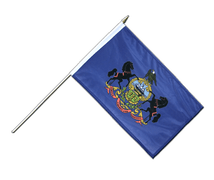 Pennsylvania - Hand Waving Flag 12x18""