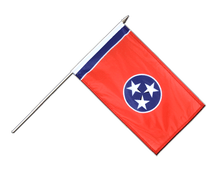 Tennessee - Hand Waving Flag 12x18""