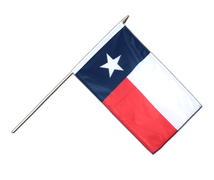 Texas - Hand Waving Flag 12x18""