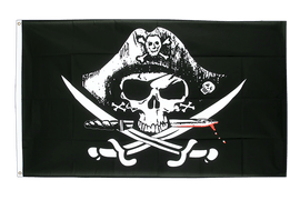 Pirate with bloody sabre - 2x3 ft Flag