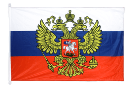 Russia with crest - Flag PRO 100 x 150 cm