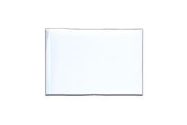 Fanion rectangulaire Blanc - 10 x 15 cm