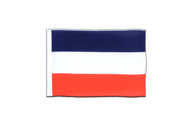 Fanion rectangulaire de la Yougoslavie ancien - 10 x 15 cm