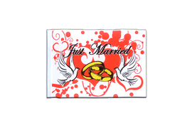 Fanion rectangulaire de Mariage Just Married - 10 x 15 cm