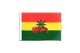 Fanion rectangulaire de Marijuana - 10 x 15 cm