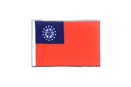Fanion rectangulaire Myanmar 1974-2010 - 10 x 15 cm