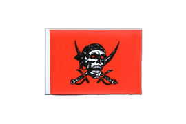 Fanion rectangulaire Pirate rouge - 10 x 15 cm