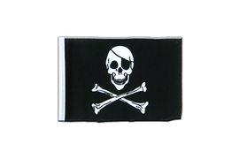Pirate Skull and Bones - Mini Flag 4x6""