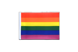 Fanion rectangulaire Arc en ciel - 10 x 15 cm