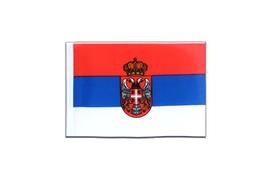 Serbia with crest - Mini Flag 4x6""