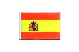 Mini Flag Spain with crest - 4x6""