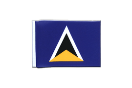 Saint Lucia - Mini Flag 4x6""