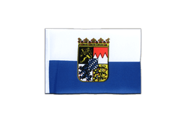 Bavaria Dienstflagge - Mini Flag 4x6""