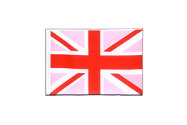 Fanion rectangulaire Union Jack rose - 10 x 15 cm